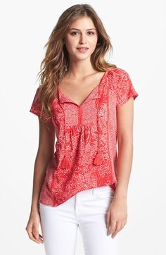 Lucky Brand 'Firework Flowers' Print Top available at #Nordstrom