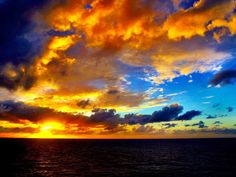 "A gorgeous Caribbean sky, ""like a painting.""  The photo submitted to USA Today 3/17"