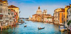 Photo about Panoramic view of famous Canal Grande and Basilica di Santa Maria della Salute at sunset in Venice, Italy. Image of cathedral, europe, idyllic - 46629460 Grand Canal, Scenery Photography, Landscape Photography, Photography Backdrops, Architecture Byzantine, Piazza San Marco, Photos Panoramiques, Venice City, Italy Honeymoon