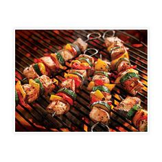 Kebab, also known as Shashlik (shashlyk), recipes are numerous. We have selected some delicious grilled kebab recipes which you can prepare on a picnic, Kabob Recipes, Pork Recipes, Cooking Recipes, Healthy Recipes, Barbecue Recipes, Summer Vegetable Recipes, Pork Kabobs, Grilled Skewers, Grilled Veggies