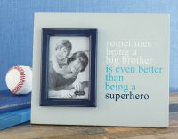 Big Brother Superhero Frame by Mud Pie. Available at the Ginkgo Boutique! Baby Picture Frames, Little Sport, Hospital Gifts, What Is Hot, Mud Pie, Baby Pictures, Brother, Best Gifts, Boutique