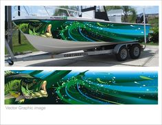 "Contest Entry #5 for Digital ""wrap"" for fishing boat graphics"