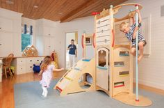 Rhapsody 3 Indoor Playset, Playbed, Playhouse | CedarWorks