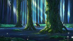ArtStation - Princess Mononoke: Forest Spirit, Samantha Lee Forest Background, Background Images, Mononoke Forest, Forest Art, Princess Mononoke, Tropical, Deviantart, Art Prints, Landscape