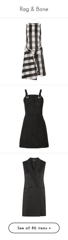 """Rag & Bone"" by shoppings9 ❤ liked on Polyvore featuring dresses, poplin dress, tie dress, pattern dress, print dresses, draped dress, vestido, black, zipper mini dress and eyelet dresses"