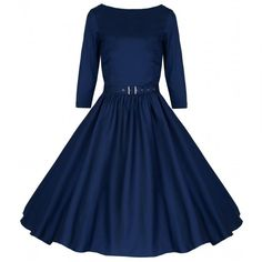 NEW VINTAGE 50 S STYLE HOLLY BLUE ROCKABILLY SWING JIVE PARTY DRESS SIZE 10