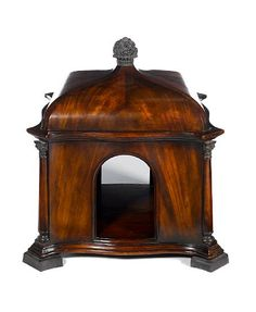1800s Antique Mahogany Dog Kennel. It is from the regency period and is a fine specimen of how people have doted upon their pets for centuries!
