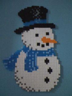 Snowman perler beads by Angelique W. - Perler® | Gallery