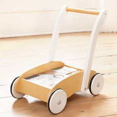 Baby Walker with Wooden Blocks | JoJo Maman Bebe