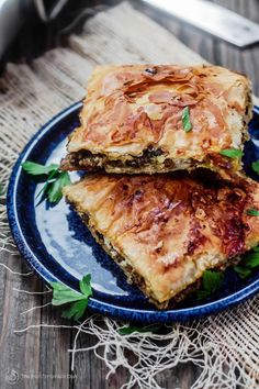 Phyllo Meat Pie Recipe (Egyptian Goulash)   The Mediterranean Dish. Spiced ground beef nestled in between layers of crispy, flaky, buttery phyllo dough! Recipe comes with step-by-step photos. An easy dinner with a big wow factor!
