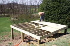 How to build a Foundation for a shed on a slope