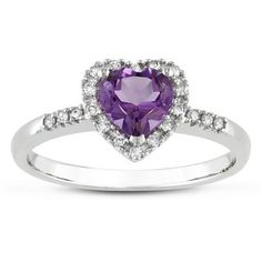 @Overstock - Amethyst and diamond ring10-karat white gold jewelryClick here for ring sizing guidehttp://www.overstock.com/Jewelry-Watches/Miadora-10k-White-Gold-Amethyst-and-1-10ct-TDW-Diamond-Heart-Ring-G-H-I2-I3/6332236/product.html?CID=214117 $219.99