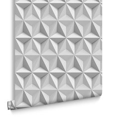 These new realistic effect wallpapers are digitally printed for maximum wow factor. Designed to look like textured walls this flat wallpaper design gives the illusion of a geometric sculpted look giving a fresh modern look. Geometric Wallpaper, Home Wallpaper, Geometric Origami, Origami Paper Folding, Heart Painting, Graham Brown, Wow Factor, Textured Walls, White Paints