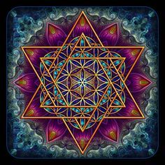 Flower of Life Fractal Star of David by Lilyas ( Lily)