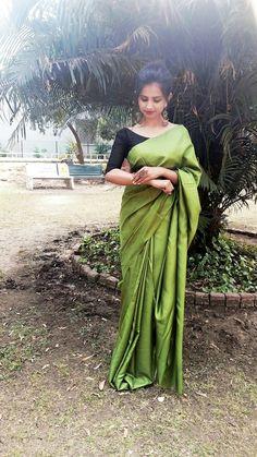 Saree ootd. #traditional#saree#blouse#plainsaree#indian