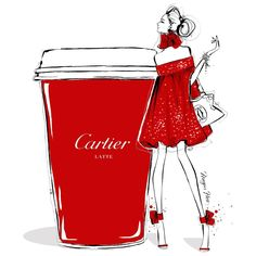 """Ohhhh I'm feeling very fancy this morning.... Only a rich velvety CARTIER LATTE will get me through the day!"""