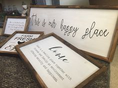 Custom Framed Farmhouse Signs Visit our website to inquire about your custom framed sign that you wanna get! We offer free shipping on all our signs, and super great prices!!!  #custommade #signs #cute #diy #farmhouse #rustic
