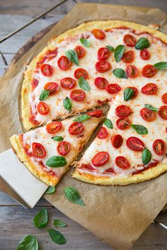 Cauliflower Pizza Crust (GF, Low Carb) - very good and much quicker than a traditional crust (no rise or kneading!).
