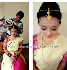 South indian bridal makeup  by kalaivani form bangalore