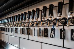 beer taps by Metal Fred Designs Huevos Rancheros, Back Bar, Delicious Restaurant, Beer Taps, Kitchen Things, Beer Garden, Steel Wall, Nashville, Restaurants