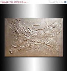 Original Textured Abstract Painting Metallic by newwaveartgallery, $300.00