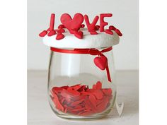 """Love"" Glas zum Valentinstag Wine Glass, Tableware, Personalized Gifts, Valantine Day, Heart, Love, Dinnerware, Dishes"