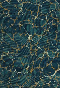 #Marbleized #paper #Teal #47ParkAvenue #interior #design #2014