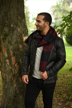 Masculine leather jacket - for good and bad boys.