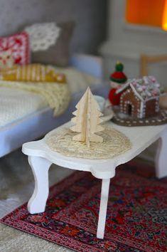 diy mini standing Christmas tree - Christmas ornament or Dollhouse tree