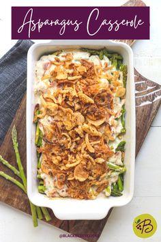 Easy Asparagus Casserole Recipe | Holiday Side Dish Recipe | Holiday Asparagus Recipe | Creamy Asparagus Recipe | Thanksgiving Side Dish | Christmas Side Dish | Baked Asparagus Recipe #ad #HolidaysWithKraft #CelebrateWithKraft @Walmart #KraftHeinz #asparagus Potluck Side Dishes, Healthy Side Dishes, Vegetable Side Dishes, Side Dishes Easy, Creamy Asparagus, Baked Asparagus, Asparagus Recipe, Thanksgiving Feast, Thanksgiving Recipes