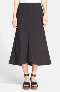 "Free shipping and returns on Tibi 'Agathe' Fluted Midi Skirt at Nordstrom.com. <p><B STYLE=""COLOR:#990000"">Pre-order this style today! Add to Shopping Bag to view approximate ship date. You'll be charged only when your item ships.</b></p><br>Sloped seams curve in a convex arc away from the body, creating swells of volume in a modern midi skirt."