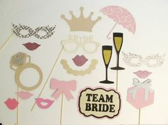 Bridal Shower Photo Booth Prop 18pc Wedding Photo by PimpYourParty