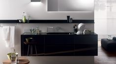 Floating bathroom sink and cabinetry - Scavolini