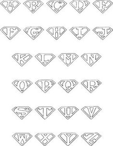 colorbook superman alphabet