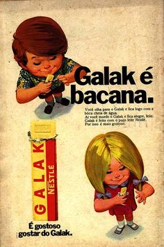 vintage ad for Galak!