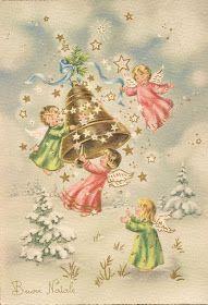 Soloillustratori: Perle Christmas Scenes, Christmas Nativity, Christmas Angels, Christmas Art, Vintage Christmas Images, Retro Christmas, Christmas Pictures, Christmas Clipart, Christmas Printables