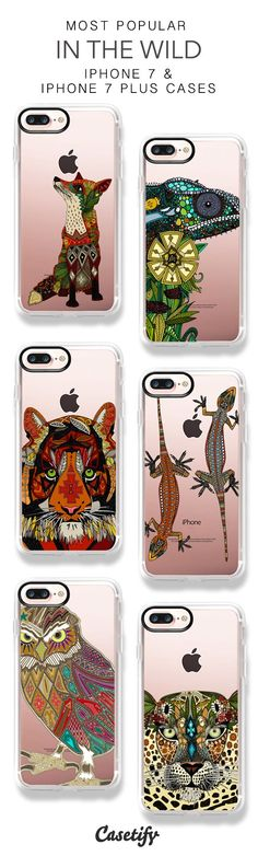 Most Popular In The Wild iPhone 7 Cases and iPhone 7 Plus Cases. More Animal iPhone case here > https://www.casetify.com/sharonturner/collection #iphone7plus,