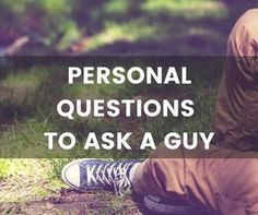 Here's my list of engaging personal questions to ask a guy. They are perfect for really getting to know someone and what makes them who they are.