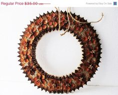 Natural Fir Cone Shingles Wreath Fir Shingles Flowers Brown Wreaths Pinecone Scales Spruce Decoration Handmade Gift Decor Holiday