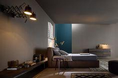Design Lederbett mit weicher Polsterung #Leder #Bett #Schlafzimmer #Gold #eed #leather #