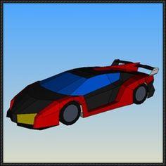 Lamborghini Veneno Paper Car Ver.2 Free Vehicle Paper Model Download - http://www.papercraftsquare.com/lamborghini-veneno-paper-car-ver-2-free-vehicle-paper-model-download.html
