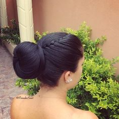 So elegant and beautiful braid with a bun twist from peinadossweet. source The post Elegant & Beautiful...