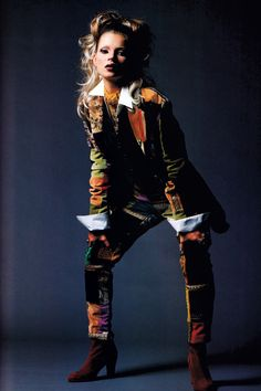 Patrick Demarchelier for Harper's Bazaar, September 1992. Clothing by Dolce & Gabbana.