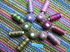 Beautiful Fassett fabric and Valdani thread options