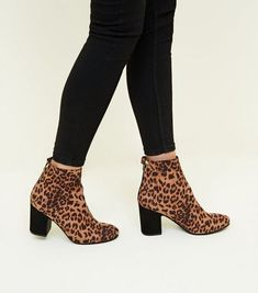 The savage New Look boots that actually have us excited for autumn Leopard Print Ankle Boots, Black Ankle Boots, Block Heel Ankle Boots, Block Heels, New Look Boots, Everyday Look, Footwear, Skinny Jeans, My Style