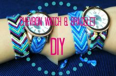 DIY Chevron Watch Strap & Bracelet + Giveaway [closed] - YouTube