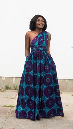 Maxi INFINITY dress in purple record by ofuure on Etsy                                                                                                                                                                                 More