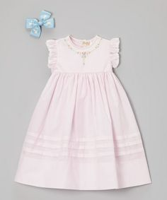 Another great find on #zulily! Blush Pink Floral Dress - Toddler & Girls by Rosalina #zulilyfinds