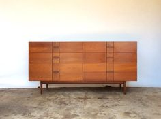 "Winchendon Mid Century 6 Drawer Long Dresser - 60""W x 17""D x 30""H"