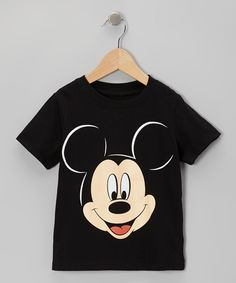 Look at this #zulilyfind! Black Mickey Mouse Face Tee - Toddler & Boys by Mickey Mouse #zulilyfinds